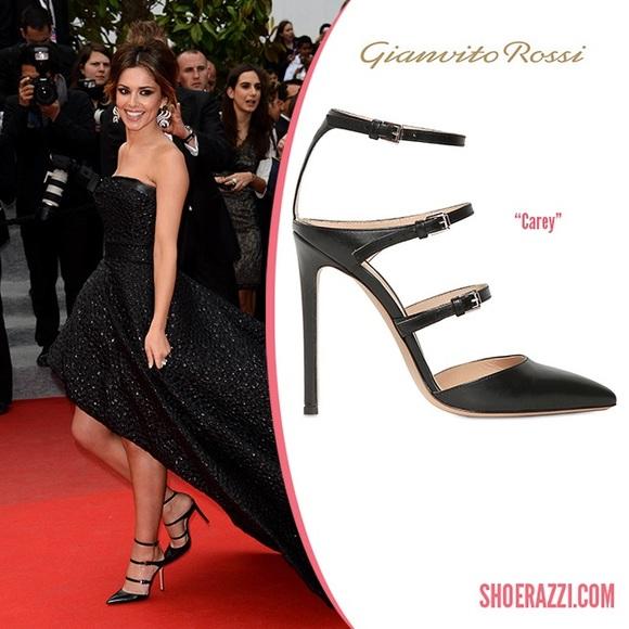 b775b7aa8 Gianvito Rossi Shoes - Gianvito Rossi black triple strap Carey heels 37.5